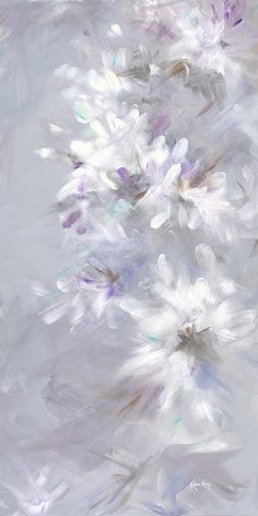 Ice Crystals Painting  - by Karen Ahuja.  Available at Fineartamerica.com