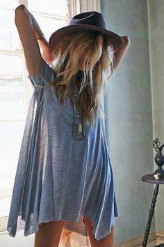 BDG Carina Oversized T-Shirt Dress   little short but super cute #BohoFashion