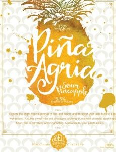Odell Pina Agria Sour Pineapple - from the brewery's cellar series