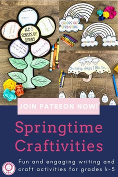 Calling all Patrons! Your April exclusive freebie is now posted! As temperatures warm up and spring is in full bloom, we decided it's time for a fun writing craftivity. There are multiple templates that you can use with your students to practice writing skills such as opinion writing, similes, creative writing, and descriptive details. These craftivities also help your students practice fine motor skills with coloring, cutting, and gluing. And, man, they create cute bulletin board displays. Cute Bulletin Boards, Bulletin Board Display, 5th Grade Classroom, Kindergarten Classroom, Writing Practice, Writing Skills, Cool Writing, Creative Writing, Understanding The Times