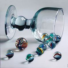 marbles in a clear glass, simple but totally adorable decoration.