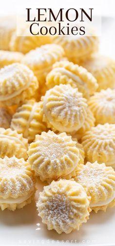 Lemon Desserts, Lemon Recipes, Cookie Desserts, Just Desserts, Baking Recipes, Cookie Recipes, Delicious Desserts, Dessert Recipes, Yummy Food