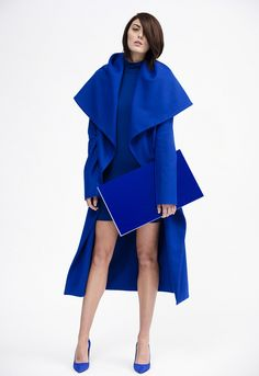 NADIA TARR FW13. Love the color blue