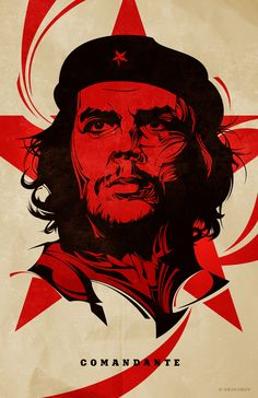 Che Guevara, poster, vector illustration