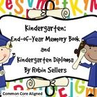 Meet Common Core Standards and make kindergarten graduation a memorable day with this end-of-year kindergarten memory book with matching kindergart...