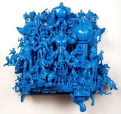 All of those toys we threw away :( ~ Self-taught artist Rondle West creates amazing assemblage sculptures from tossed-aside toys.