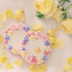 beautiful flower lease cookies