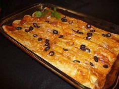 Mexican Bean & Cheese Enchiladas Recipe. (Vegetarian)