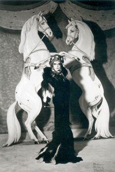 Luisa dresses as Empress Elisabeth of Austria by Man Ray, 1935