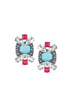opaque and rhinestone stud latest fashion, stud earrings, rhineston stud, pretti earring
