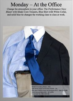 Monday Blues? Change the mood at work today in a Navy Blue Performance Blazer, Blue custom shirt with a white collar, Khaki Trousers, lizard pattern leather belt and a bold blue tie. Add a pocket square to take it to the next level. #jhilburn #jhilburnstyle #blazer #sportcoat #customshirt #ties #neckwear #trousers #belt #style #swag #menswear #mensstyle #mensclothing #fashionformen http://richardaldrich.jhilburn.com
