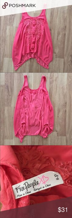 Free People Boho Flowy Tank Top Size Small ⚜️I love receiving offers through the offer button!⚜️ Good condition, as seen in pictures! Fast same or next day shipping!📨 Open to offers but I don't negotiate in the comments so please use the offer button😊 Free People Tops Tank Tops