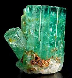 Emerald beryl, 2.3 cm, from Alabashka, Urals, Russia.  Exceptional Minerals specimen and photo.