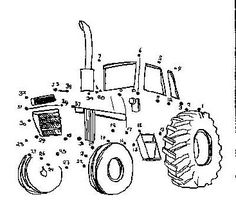 view and print this dot to dot tractor get your free dot to dot pages at all kids network