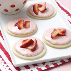Strawberry Shortcake Cookies Recipe from Taste of Home