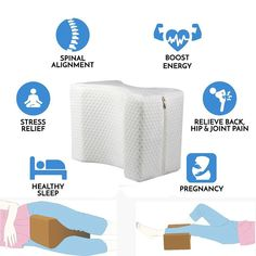 Orthopedic Memory Foam Knee Pillow – Healthdoxs Relieve Back Pain, Low Back Pain, How To Relieve Stress, Hip Pain Relief, Pregnant Sleep, Lower Back Problems, Knee Pillow, Reduce Hips, Side Sleeper Pillow