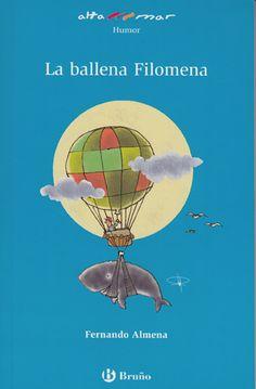 La ballena Filomena sueña con salir del mar y conocer otros lugares. Sus amigas las gaviotas piden ayuda a Celestino Parlafino, el hombre que habla con los pájaros. Envuelven a Filomena en una red de pescadores, la atan al globo aerostático de Celestino y éste la lleva volando hasta el estanque de un parque. Al principio la ballena nada feliz, pero pronto se da cuenta de que la vida en el parque no es lo que soñaba y regresa al mar.  #LIJ #mar #suenos #viajes #ballenas