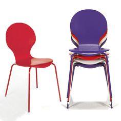 Chaise rétro (plusieurs coloris disponibles) Multicolore - Maddy - Chaises - Tables et chaises - Salon et salle à manger - Décoration d'intérieur - Alinéa