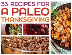 33 Recipes For A Paleo Thanksgiving