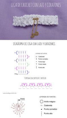 Liga para novia de crochet / Crochet garters for brides