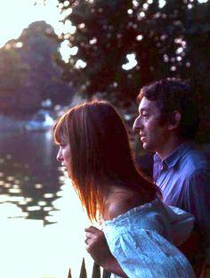 Jane Birkin & Serge Gainsbourg watch the sunset in Oxford, August 8th, 1969.
