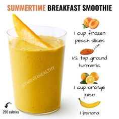 Healthy Juice Recipes, Weight Loss Smoothie Recipes, Fruit Smoothie Recipes, Good Smoothies, Healthy Juices, Smoothie Diet, Healthy Drinks, Fat Burning Smoothies, Healthy Shakes