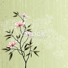 Stylized Flowers Royalty Free Stock Vector Art Illustration