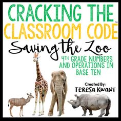 Will your class escape in time? No way! The animals have escaped their enclosures at the the zoo, and your class has been tasked with putting them back in their correct locations. Students must breakout from their risky situation, by solving a string of clues hidden around the classroom.