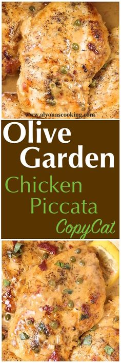 Olive Garden Chicken Piccata copycat Recipe | Alyonas Cooking