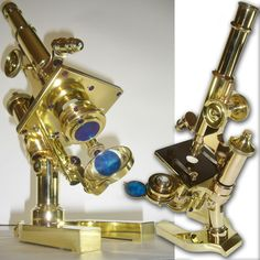 1893 LEITZ WETZLAR CONTINENTAL ANTIQUE MICROSCOPE vintage  #BauschAndLomb