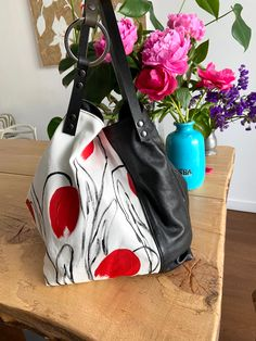 TEKOA 731 borsa in jeans dipinti e pelle recuperata Milano, Gym Bag, Take That, Pouch Bag, Bag