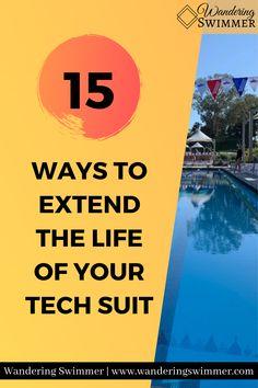 It's no secret that tech suits are expensive. So how do you extend the life of your tech suit? Here are 15 tips to help care for your tech suit. The Life, Encouragement, Swimming, Tech, Suits, Swim, Suit, Wedding Suits, Technology