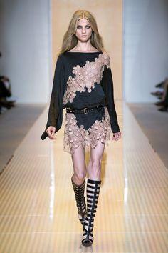 #Nude#Lace#Dress- Versace Women's Spring Summer 2013