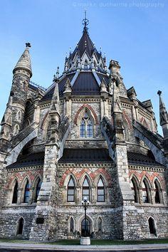 Parliamentary Precinct, Ottawa, Ontario - Parliamentary Library on Parliament Hill -MR Canada Trip, O Canada, Canada Travel, Bookstores, Libraries, Vacation Destinations, Vacations, Las Vegas, Usa Roadtrip