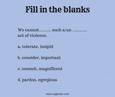 Fill in the blanks with appropriate words. Speak English Fluently, English Speaking Skills, English Language Learning, English Grammar, Learn English, Ielts Tips, Vocabulary, Fill, Acting