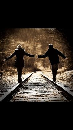 I LOVE!!!!! Train track pictures :) We both love trains