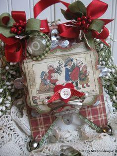 Vintage christmas card - cherrys jubilee cards