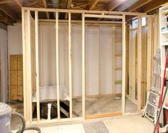 My basement bathroom was without a doubt the most fun and most difficult aspect of my entire basement finishing project. Basement Bathroom, Small Bathroom, Bathroom Ideas, Rustic Basement, Cheap Bathrooms, Small Spaces, New Homes, Layout, Basement Finishing
