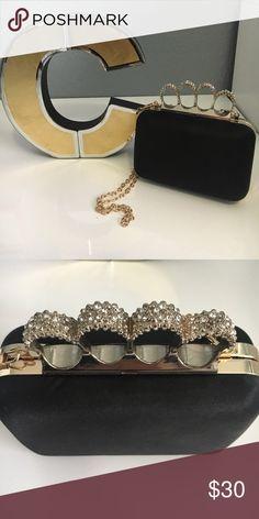 Brass Knuckle Clutch Black  a Gold Brass Knuckle Clutch Lulu Townsend Bags  Clutches   Wristlets Brass 591961a29dde8