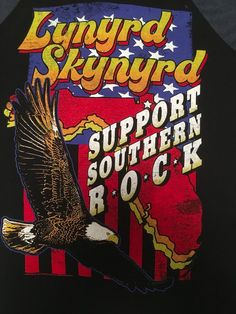 Lynyrd Skynyrd Baseball Tee T-shirt Small Support Southern Rock Graphic NWOT…