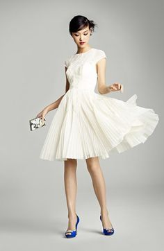 pretty short dress  #fashion ,  #white   #dresses
