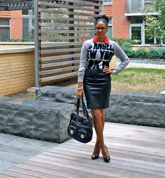 forever 21 skirt and sweater...StilettoEsq