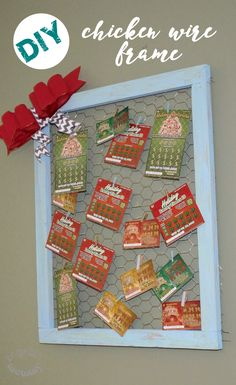 Make this DIY Chicken Wire Frame featuring New Jersey Lottery Instant Games! You can even use this frame to display notes, pictures, postcards, etc. throughout the rest of the year! #ad