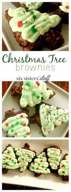 Christmas tree shaped brownies!