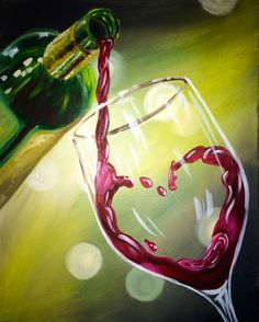 Wine & Design Rahway, NJ Top Choice to Paint and Sip Wine Get Your Art Buzz On, Call Us Today at Wine & Painting Parties Wine Painting, Woman Painting, Wine And Canvas, Paint And Sip, Wine Design, Wine Art, Diy Canvas, Paint Party, Painting Inspiration