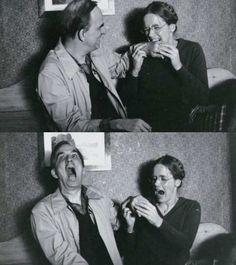 Ingmar Bergman and Liv Ullmann during the filming of Autumn Sonata | Rare and beautiful celebrity photos