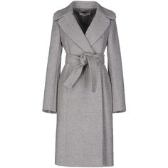 Stella Mccartney Coat (1,325 CAD) ❤ liked on Polyvore featuring outerwear, coats, grey, gray coat, gray wool coat, long sleeve coat, double breasted coat and grey double breasted coat