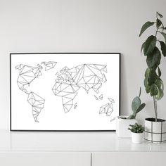 NEU - die viel geliebte Weltkarte gibt es neben den Klassikern in tiefschwarz und schneeweiß nun in 4 weiteren frischen Farben: blush, mint, rauchgrau und indigoblau. Irgendwo da, sind wir...