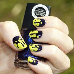 Halloween slime nail art