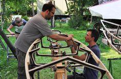 Mathias, Antje und Nikola bauen einen geschlossenen Doppelsitzer :)